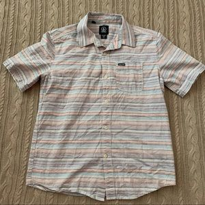 Volcom Shirts & Tops - ⭐️3/$25⭐️ boys volcom striped Button Down Shirt